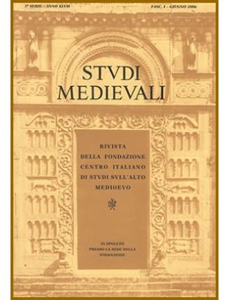62-I) STUDI MEDIEVALI III serie, Volume LXII (2021), fascicolo 1, pp. 1-486.
