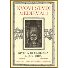 4) Nuovi Studi Medievali - Volume III (1926-1927), parte I, pp. 1-222.